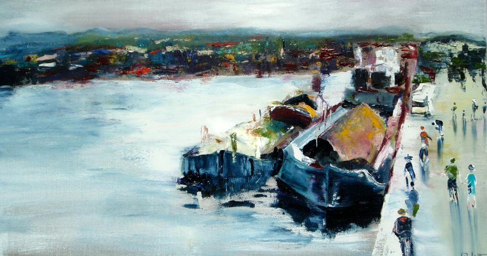peinture bateau accosté